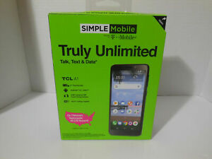 : Simple Mobile Prepaid TCL A1 6GB Black Android 8.1 Oreo Cell SmartPhone