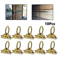 10-Pack Heavy Duty Steel E-Track O Ring Tie-Down Anchors for Truck, Trailers