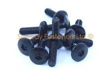 10x Black Aluminium Fairing Screen Bolts m5 x 16mm Pan Mushroom Button Head Bolt