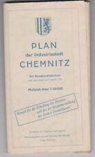Stadtplan von Chemnitz, 1951