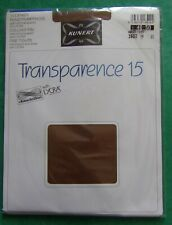 § vintage, collant neuf KUNERT TRANSPARENCE 15 chinchillan lycra marron 48-50