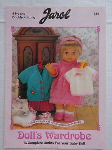 DOLLS CLOTHES  KNITTING PATTERN BOOK  DK & 4 PLY