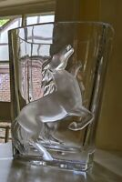 Large LALIQUE Rearing Horse Vase LIMITED EDITION OF 50 (Fifty) for Asprey London