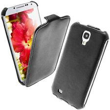 Schwarz PU Leder Flip Tasche für Samsung Galaxy S4 IV I9500 I9505 Android Hülle