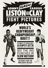 LISTON vs. CLAY - Round by Round Film - Vintage Sports Poster