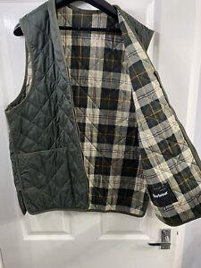 Barbour Zip In Liner Gilet Size 40