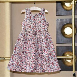 Papo d Anjo Girls Flower Dress Size 6 EEUC