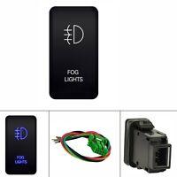 12V Push Switch Blue LED Fog Light For Toyota FJ Cruiser Fortuner Hilux Tacoma