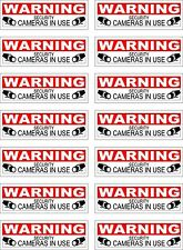 12 CCTV VIDEO SURVEILLANCE Security Burglar Alarm Decal  Warning Sticker Signs