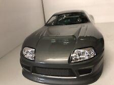 Fully Custom 1/10 Scale Remote Control On-road Drift Car Toyota Supra Gunmetal