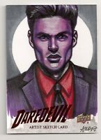 2018 UPPER DECK DAREDEVIL SEASON 1 & 2 KILLGRAVE SKETCH 1/1 ASHLEIGH POPPLEWELL