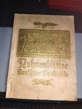 Ruhmesblätter Deutscher Geschichte 1933