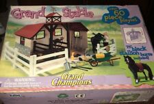 GRAND CHAMPIONS GRAND STABLE PLAYSET 60+ PCS