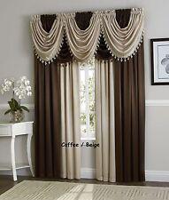 Hyatt Luxurious Window curtain Panel or waterfall valance Window Treatment