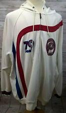 PONY Mens Sweatshirt Size XXXL White Long Sleeve Front Zip Hooded Drawstring