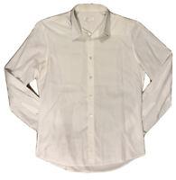 ALEXANDER McQUEEN SS15 double-collar WHITE shirt LONG sleeve 50 medium £480 rare
