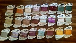 Splendor 100% Silk Embroidery Thread Floss by Rainbow Gallery  Choose Your Color