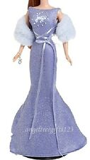 Taurus periwinkle sparkle evening gown fits silkstone royalty model muse Barbie