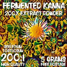 Fermented Kanna (Sceletium tortuosum) 200x Extract Powder [5 Grams]