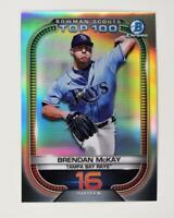 2021 Bowman Scouts Top 100 Chrome Base #BTP-16 Brendan McKay - Tampa Bay Rays
