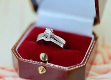 Vintage Antique Jewelry Gold Ring Natural Diamonds Art Deco Jewellery Size M