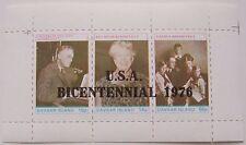 G.B. - Davaar Island - Block Family Roosevelt overprint USA Bicentennial 1976