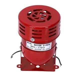 AC 220 V Rotes Metall Motorbetriebener Luftangriff Sirene Horn Alarm D5Y3