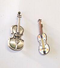 Pins Sterling Enamel 2 Violin Cello