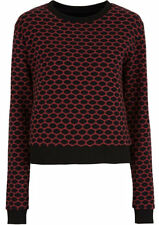 Cooles Cropped Sweatshirt mit Allover-Print   Gr.32/34