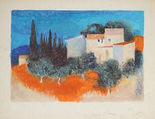 """""""Paysage en Toscane"""" Peinture signée Pierre BISIAUX"""