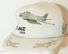 F-86E 1950 Military North American Plane Grey Cap Hat One Size Used