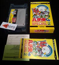 PACHINKO LAND SPECIAL 2 Super Famicom-Nintendo SNES COMPLETO Jap
