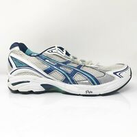Asics Womens Gel GT 2130 TN854 White Blue Running Shoes Lace Up Low Top Size 12