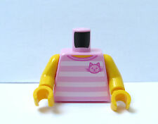 Lego 1 BodyTorso For Girl Female Minifigure Figure Pink Sleeveless Cat Kitten