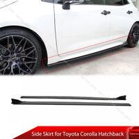 Painted Matte Black Side Skirt For Toyota Corolla Hatchback E210 AURIS