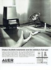 Publicité Advertising 068  1963   chauffage d'appoint gaz Auer radiateur