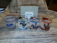 Garden State Park Jersey Derby Horse Race Glass SET of 4 WITH BOX RARE!