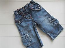 Baby-Hosen & -Shorts für Mädchen im Jeans-Stil mit Bestickung aus 100% Baumwolle