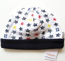 Mütze Gr.56 Noppies NEU m.E weiß blau Sterne Haube Umschlag baby
