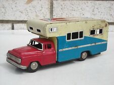 Vintage Japan Tin Litho Camper Truck