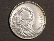 EGYPT 1956 20 Piastres Sphinx Silver Unc