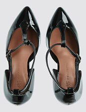 M&S BLACK  STILETTO COURT SHOES WITH INSOLIA FOR BEAUTIFUL WOMEN UK 7.5 & UK 8