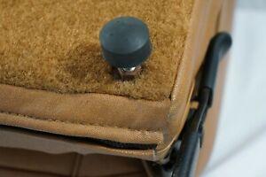 Brand New Factory OEM NOS AMC Jeep CJ7 CJ8 Fold Tumble Rear Seat Feet Bumpers