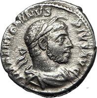 ELAGABALUS at Altar Sacrificing Ancient 222AD Rome Silver Roman Coin i67048