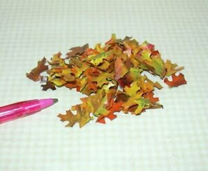 Miniature Colorful Pile of Fall Oak Leaves, Approx. 70 Count: DOLLHOUSE 1:12