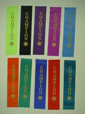 CHAMPION AWARD RIBBONS, FUN,KIDS ENCOURAGEMENT, SPORTS