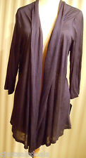 NWT AGB Shrug 3/4 Sleeve Navy Blue Cozies Open Front Plus Size 1X  3455A5J