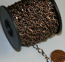 32 ft spool Antiqued Copper hammered chain 5X8mm