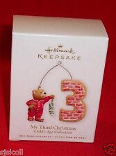 Hallmark 2010 MY THIRD CHRISTMAS Child's Age Boy Or Girl Dated 3rd Ornament