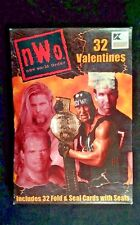 32 Nwo New World Order Wrestling Paper Valentine Day Cards & Seals Box damage